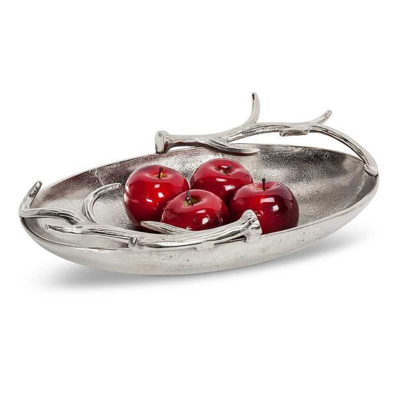 Deep Oval Bowl with Antlers