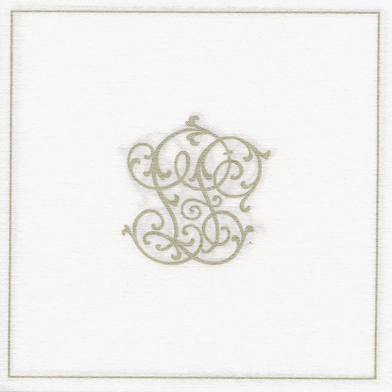 "Francoise Paviot ""Chiffres"" Dinner Napkin - Gold, FP-Francoise Paviot, Putti Fine Furnishings"