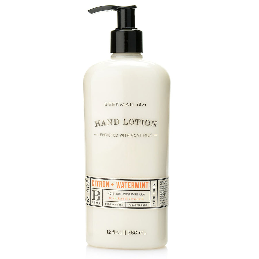 Beekman 1802 - Citron + Watermint Hand Lotion, BK-Beekman 1802, Putti Fine Furnishings