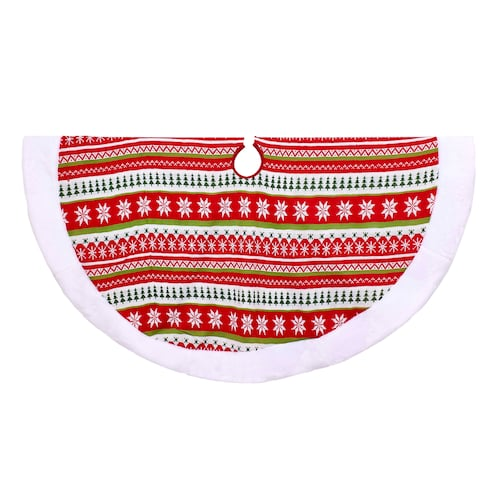 Kurt Adler Red and Green Knit Tree Skirt