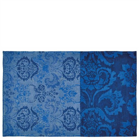 "Designers Guild Kashgar Indigo Area Rug-Carpet-DG-Designers Guild-Small 5'3"" x 8'6"" ( 160cm x 260cm)-Putti Fine Furnishings"