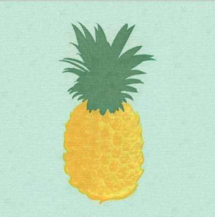 "Francoise Paviot ""Ananas"" Pineapple Cocktail Napkin"