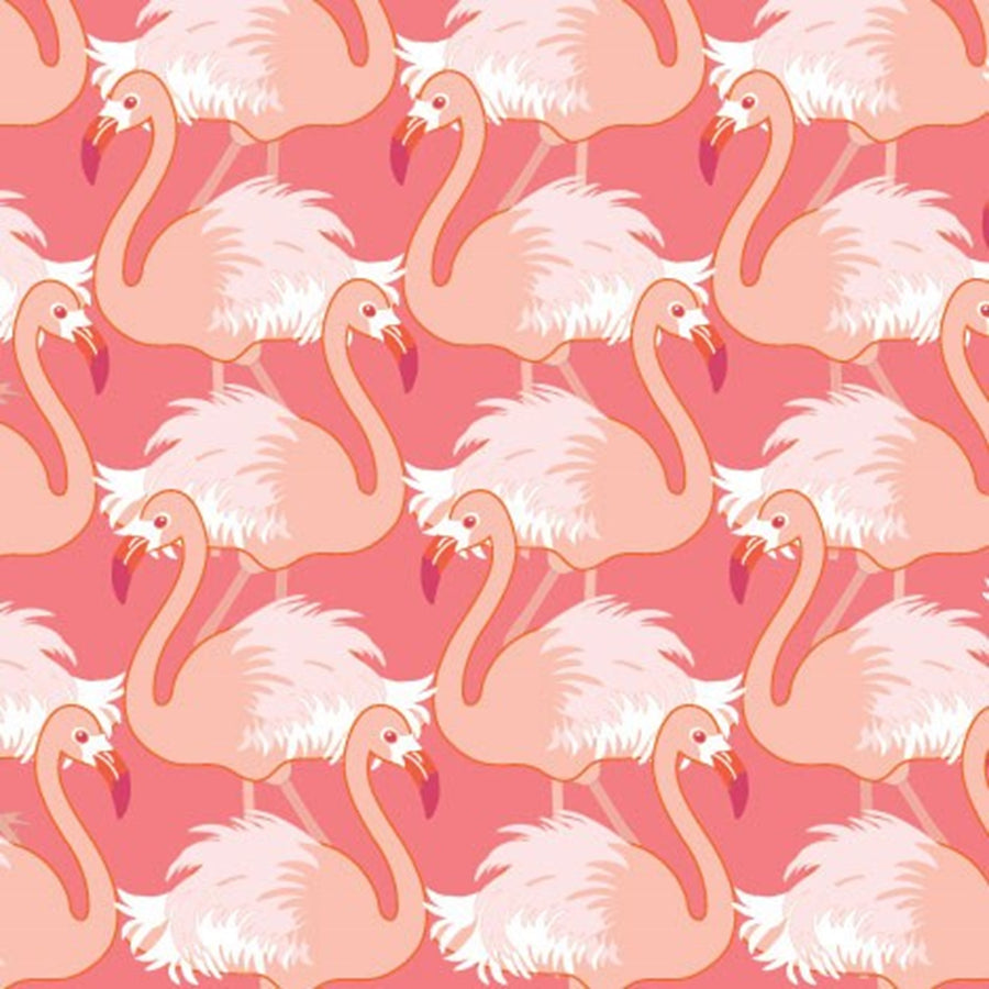 "Francoise Paviot ""Flamant Rose"" Flamingo Cocktail Napkin"