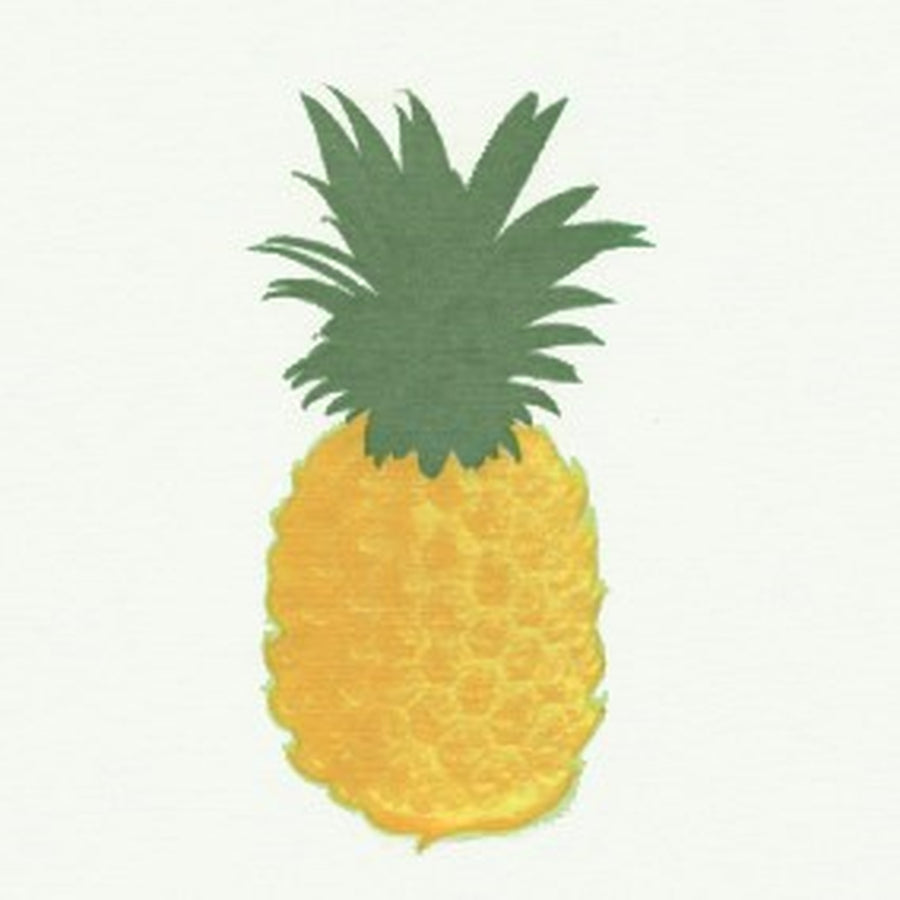 "Francoise Paviot ""Ananas"" Pineapple Cocktail Napkin - White"