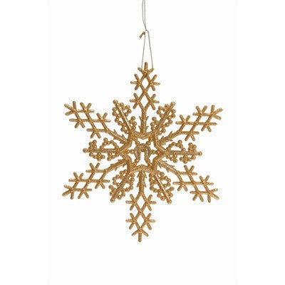 Gold Snowflake Ornament -  Christmas - PC-Pine Center - Putti Fine Furnishings Toronto Canada