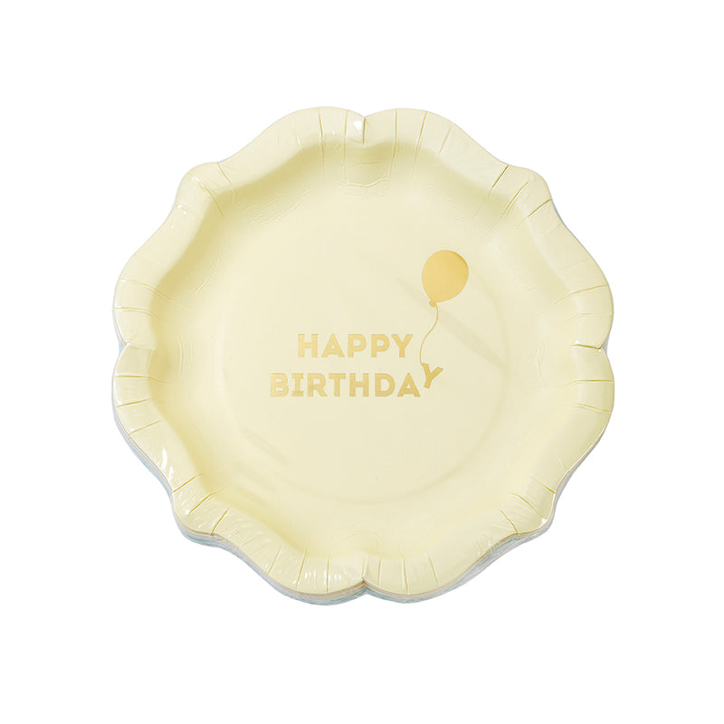 """We Heart Birthdays"" Paper Plates"