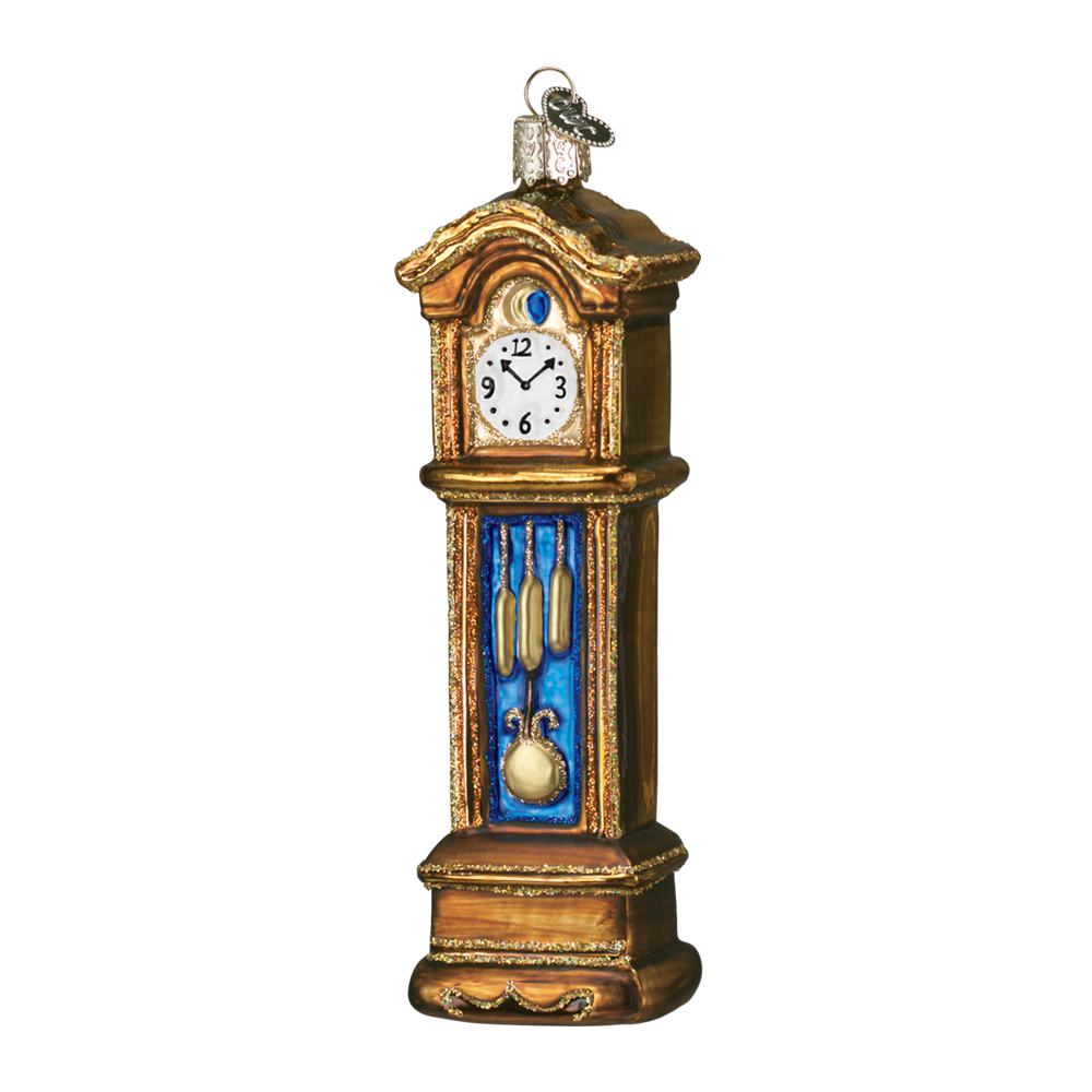Old World Christmas Grandfather Clock Glass Ornament -  Christmas Decorations - Old World Christmas - Putti Fine Furnishings Toronto Canada - 1