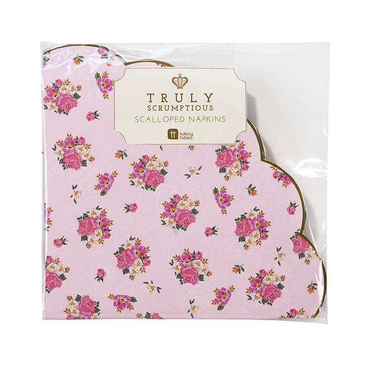 Truly Scrumptious Scalloped Napkin -  Paper Napkins - Talking Tables - Putti Fine Furnishings Toronto Canada - 2