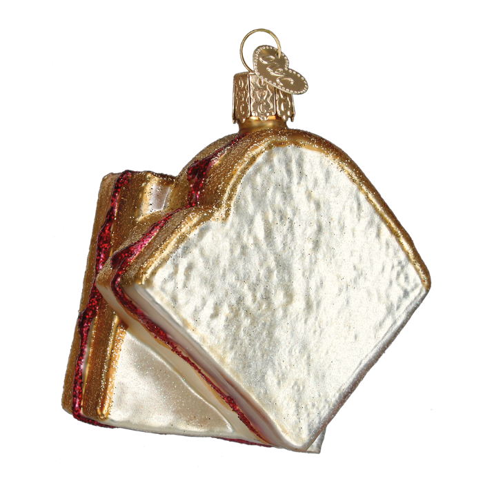 Old World Christmas Peanut Butter and Jelly Sandwich Glass Ornament, OWC-Old World Christmas, Putti Fine Furnishings