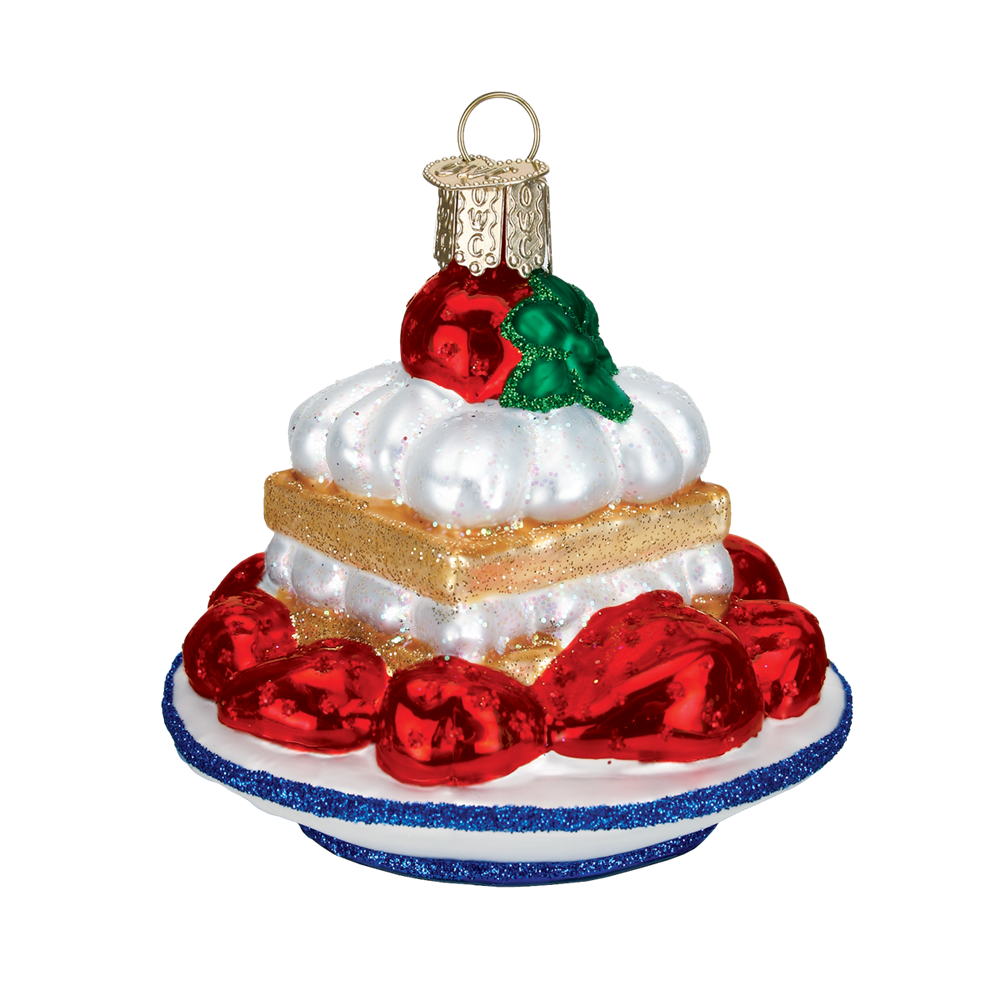 Old World Christmas Strawberry Shortcake Glass Ornament -  Christmas Decorations - Old World Christmas - Putti Fine Furnishings Toronto Canada - 1