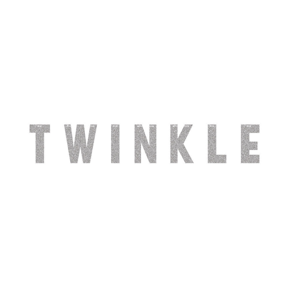 """Twinkle"" Silver Glitter Banner, CC-Creative Converting, Putti Fine Furnishings"