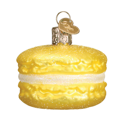 Old World Macaron Glass Ornament - Yellow Christmas Decorations - Old World Christmas - Putti Fine Furnishings Toronto Canada - 7