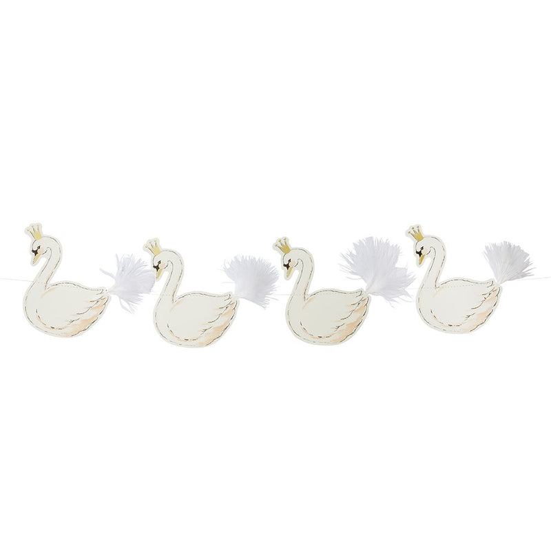 """We Heart Swans"" Paper Garland"