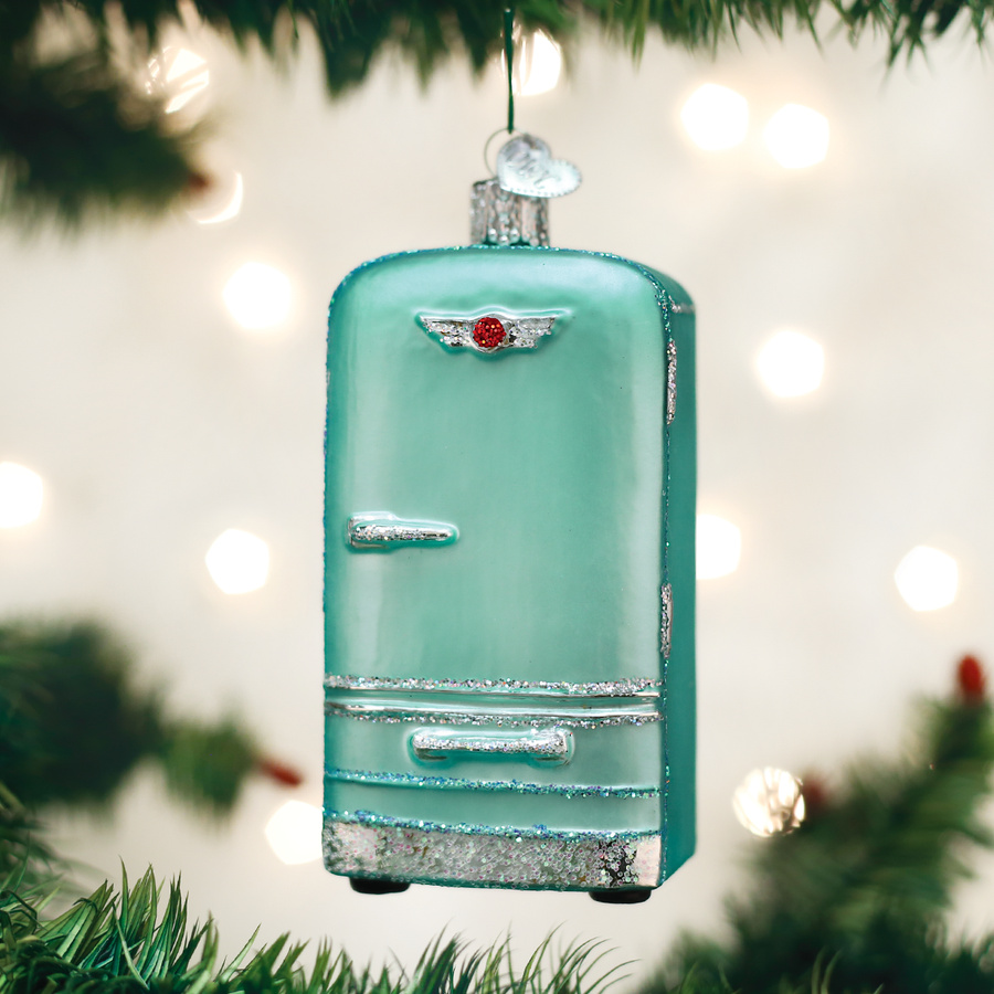 Old World Christmas Retro Fridge Glass Ornament
