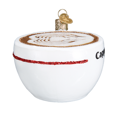 Old World Christmas Cappuccino Glass Christmas Ornament, OWC-Old World Christmas, Putti Fine Furnishings