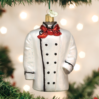 Old World Christmas Chef's Coat Glass Christmas Ornament, OWC-Old World Christmas, Putti Fine Furnishings