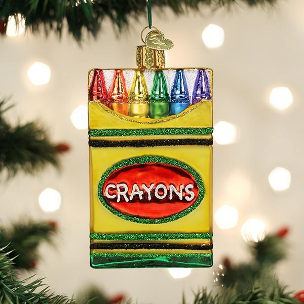 Old World Christmas Box Of Crayons Christmas Ornament | Putti Christmas