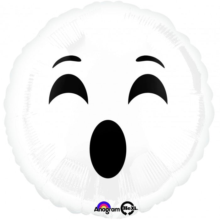 "Emoji Ghost ""#Boo"" Mylar Halloween Balloon, SE-Surprize Enterprize, Putti Fine Furnishings"