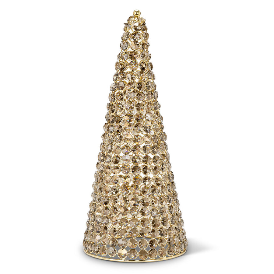 Crystal Cone Tree - Large Amber -  Christmas - AC-Abbot Collection - Putti Fine Furnishings Toronto Canada