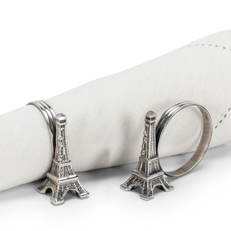 Eiffel Tower Napkin Ring - Set of 4