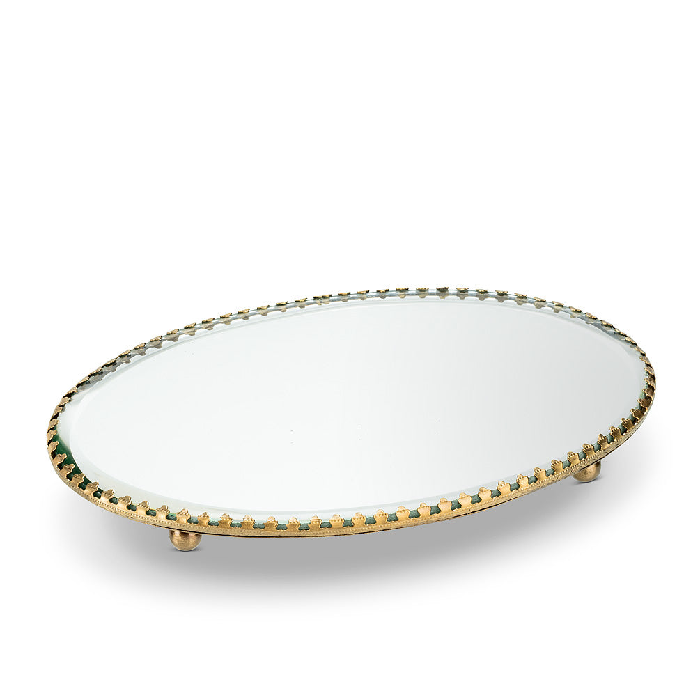 Oval Mirror Vanity Tray | Putti Fine Furnishings