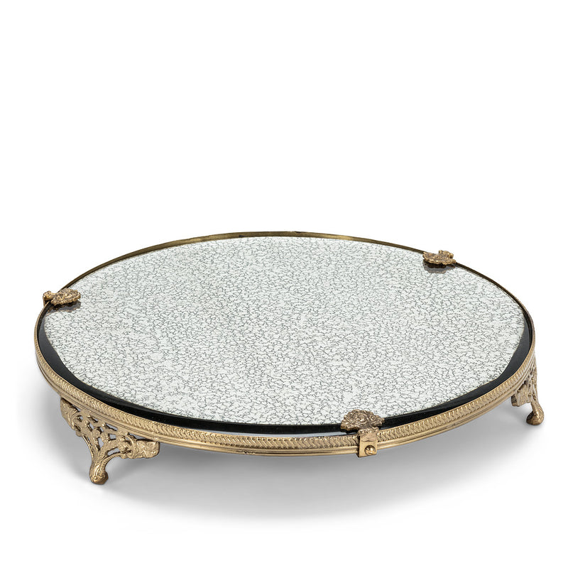 Large Round Mirror Display Plate | Putti Fine Furnishings