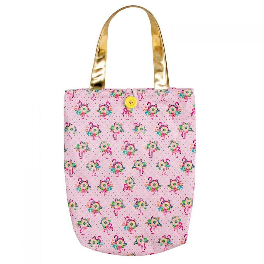 "Bombay Duck ""Pink Flamingo"" Canvas Tote"
