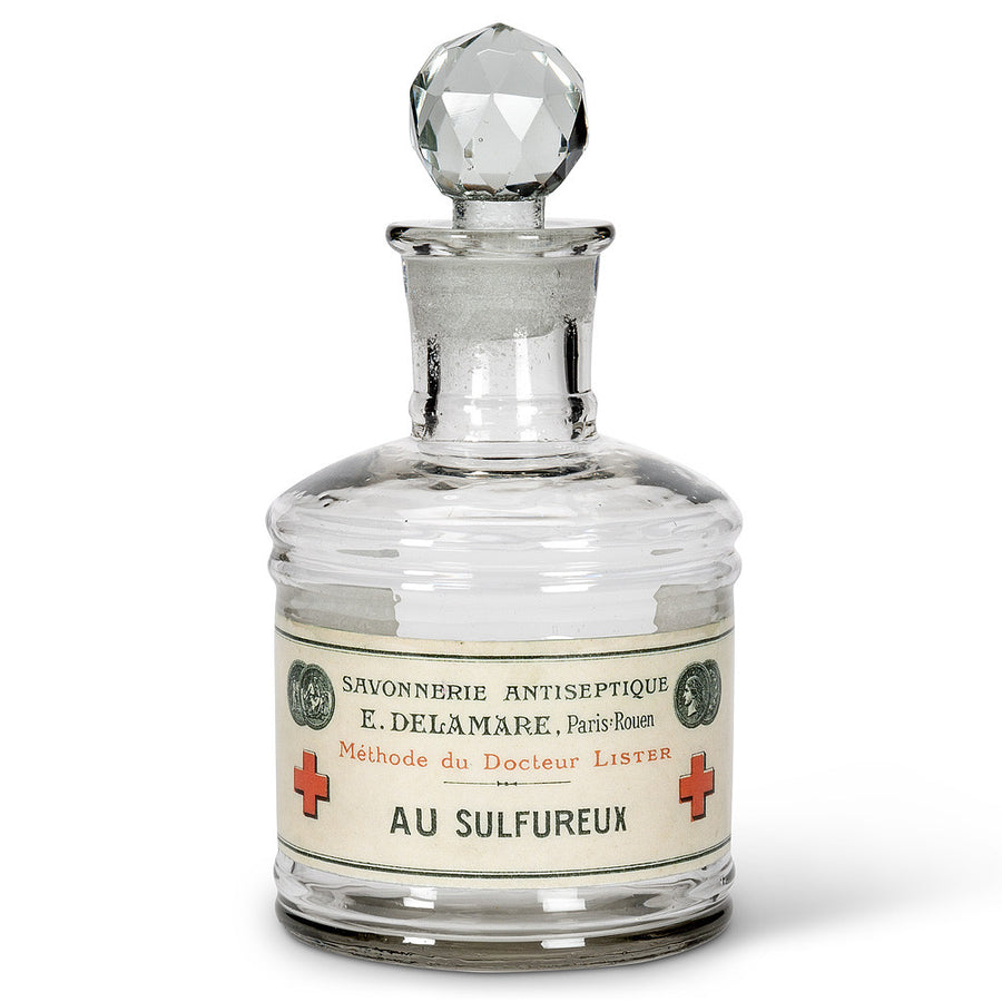 "Glass Bottle ""Sulfureux"" Label"