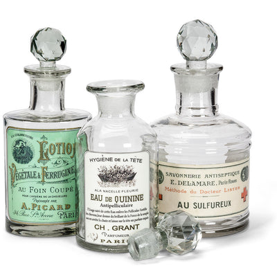 "Glass Bottle ""Quinine"" Label -  Accessories - AC-Abbott Collection - Putti Fine Furnishings Toronto Canada - 2"