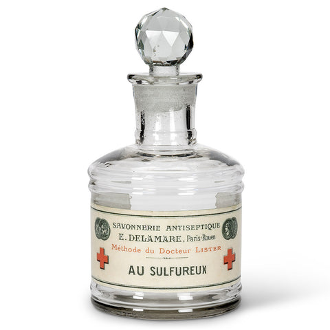 "Glass Bottle ""Sulfureux"" Label -  Accessories - AC-Abbott Collection - Putti Fine Furnishings Toronto Canada"