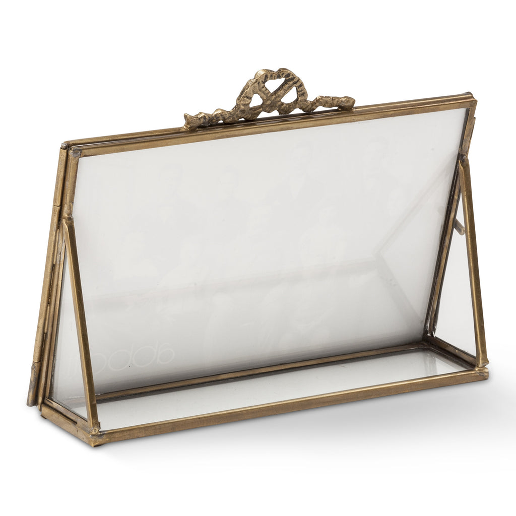 Rectangular Display Frame with Bow Top-Accessories-AC-Abbott Collection-Putti Fine Furnishings