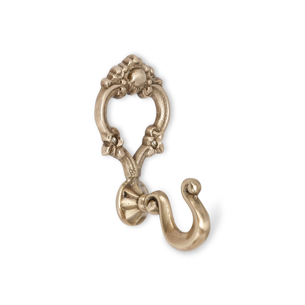 Embossed Brass Single Hook