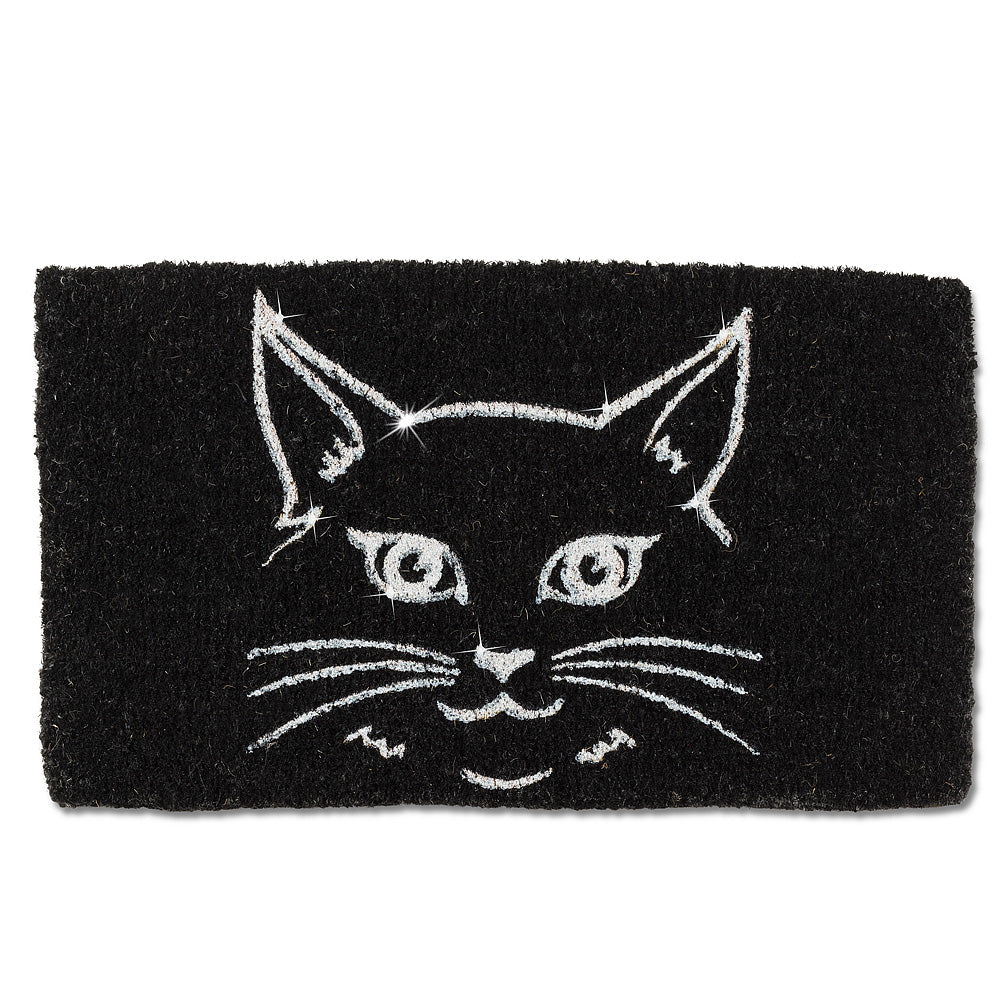 Glitter Cat Face Doormat, AC-Abbott Collection, Putti Fine Furnishings