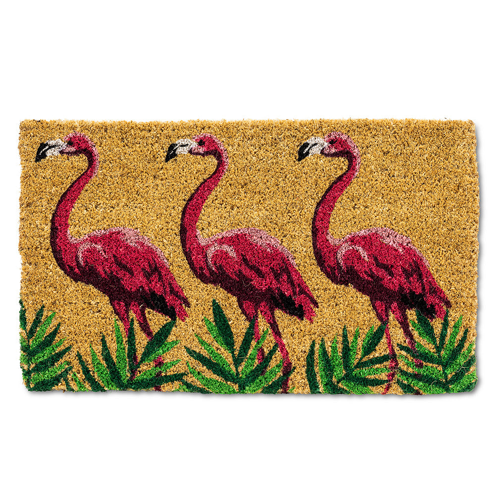 Flamingo Parade Doormat