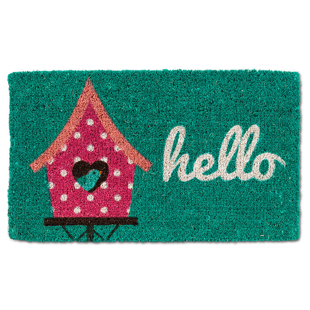 "Birdhouse ""Hello"" Doormat"