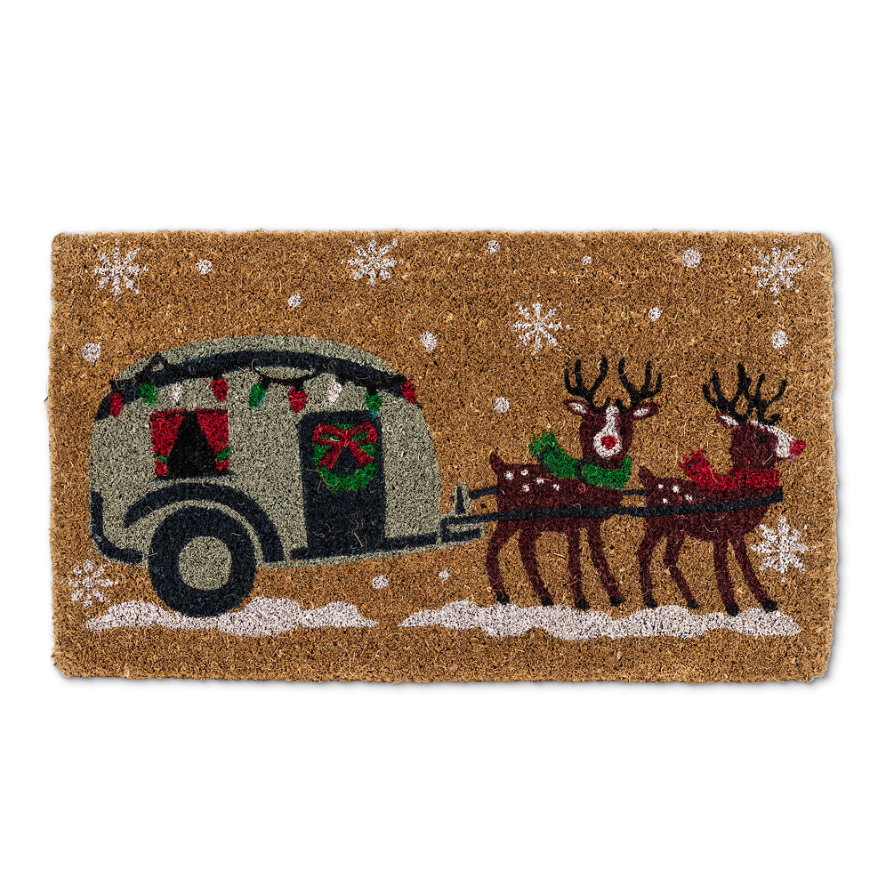 Winter Camper Doormat