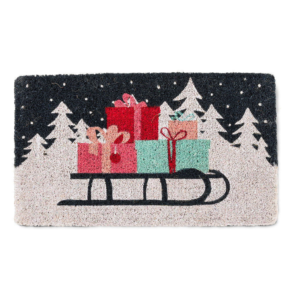 Sled & Presents Doormat | Putti Christmas Canada