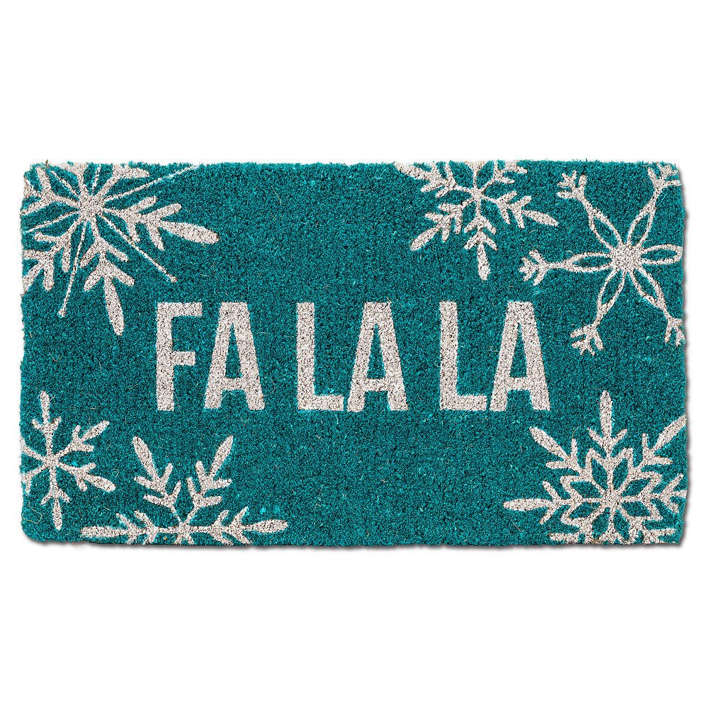 Snowflake Fa La La Doormat | Putti Fine Furnishings Christmas Door Mats