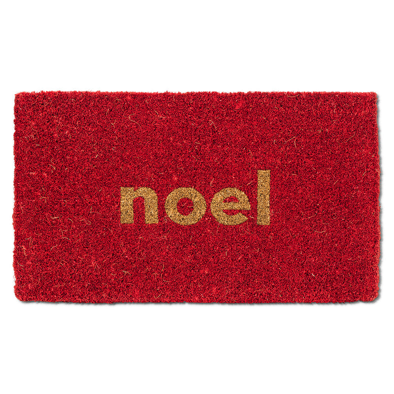 "Classic Red ""Noel"" Doormat  