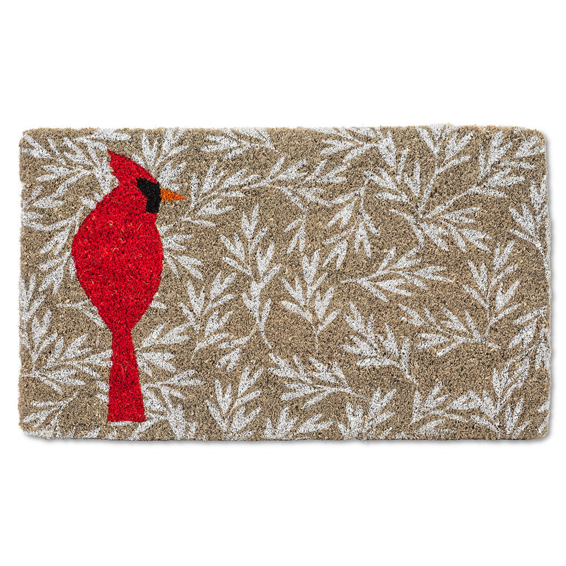 Single Cardinal Doormat | Putti Christmas Door Mats Canada