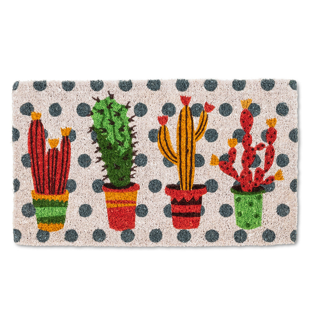 Cactus Garden Doormat | Putti Fine Furnishings Toronto Canada