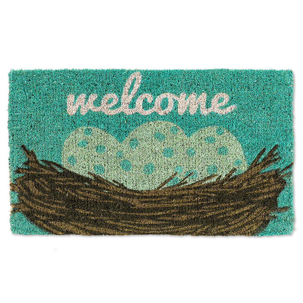 Easter Nest & Eggs Welcome Doormat | Putti Fine Furnishings Canada