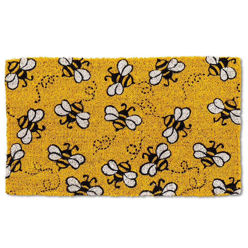 All Over Flying Bee Doormat | Putti Fine Furnishings Toronto Canada