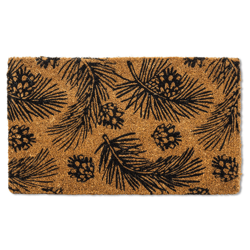 Pine Cones and Branches Doormat | Putti Fine Furnishings Door Mats Canada