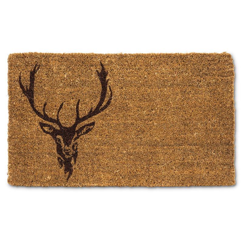 Stag Head Doormat | Putti Fine Furnishings Door Mats Canada
