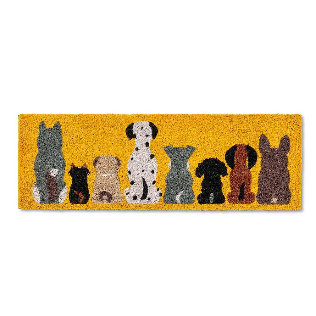 Row of Dogs Balcony Doormat