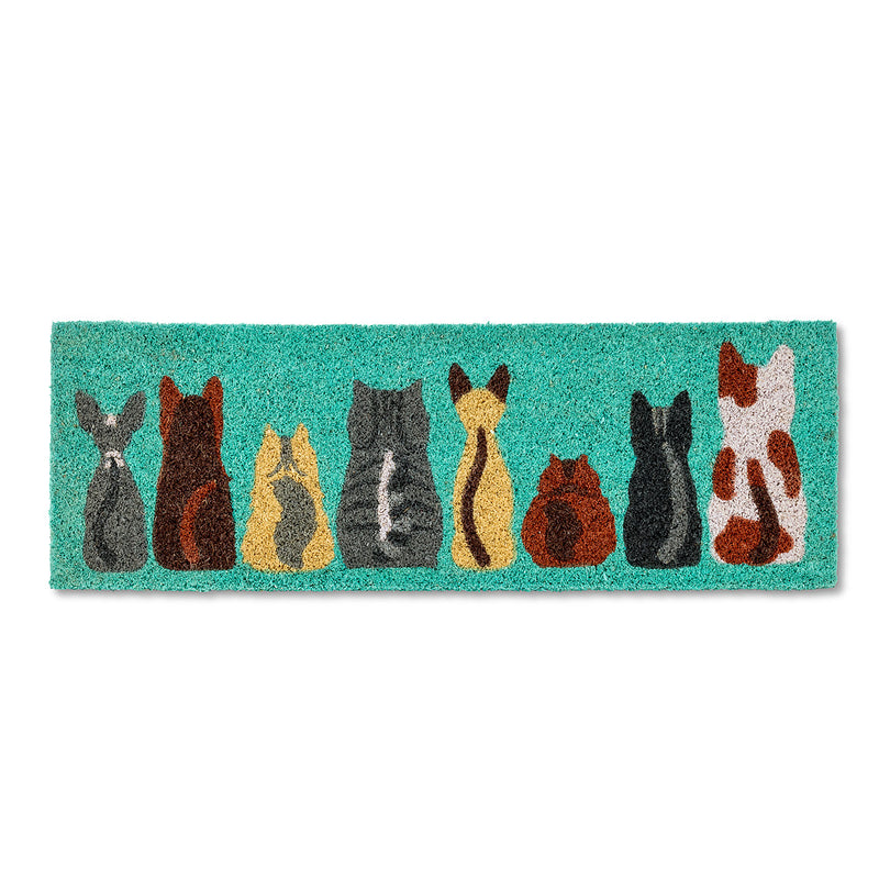Row of Cats Small Balcony Doormat