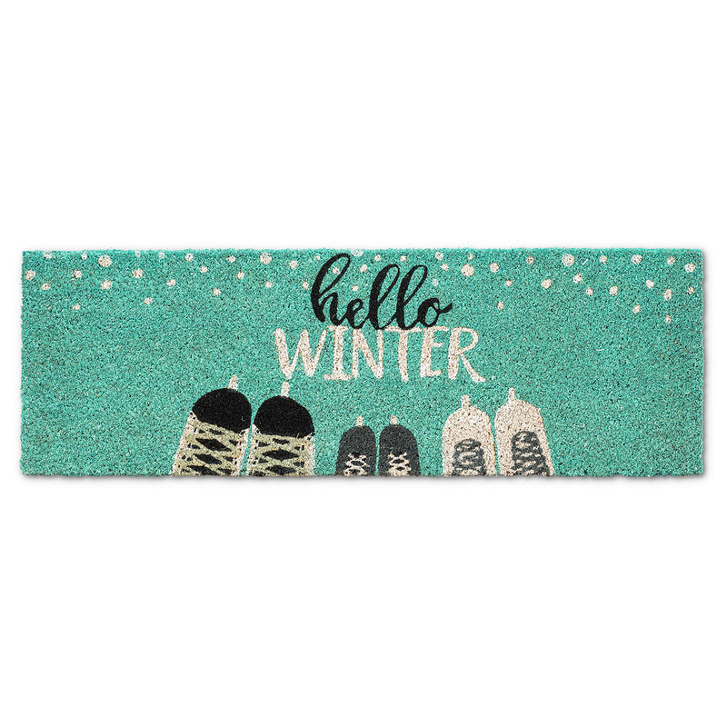 """Hello Winter"" Skate Balcony Doormat"