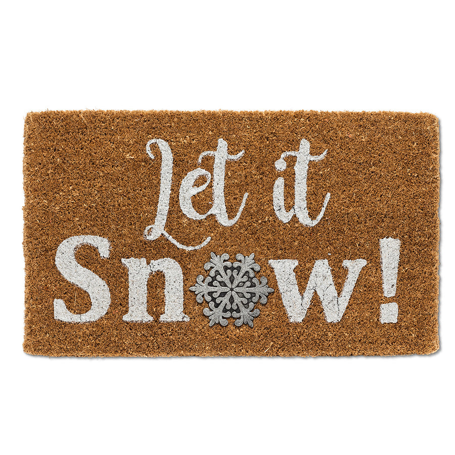 Let it Snow with Snowflake Doormat