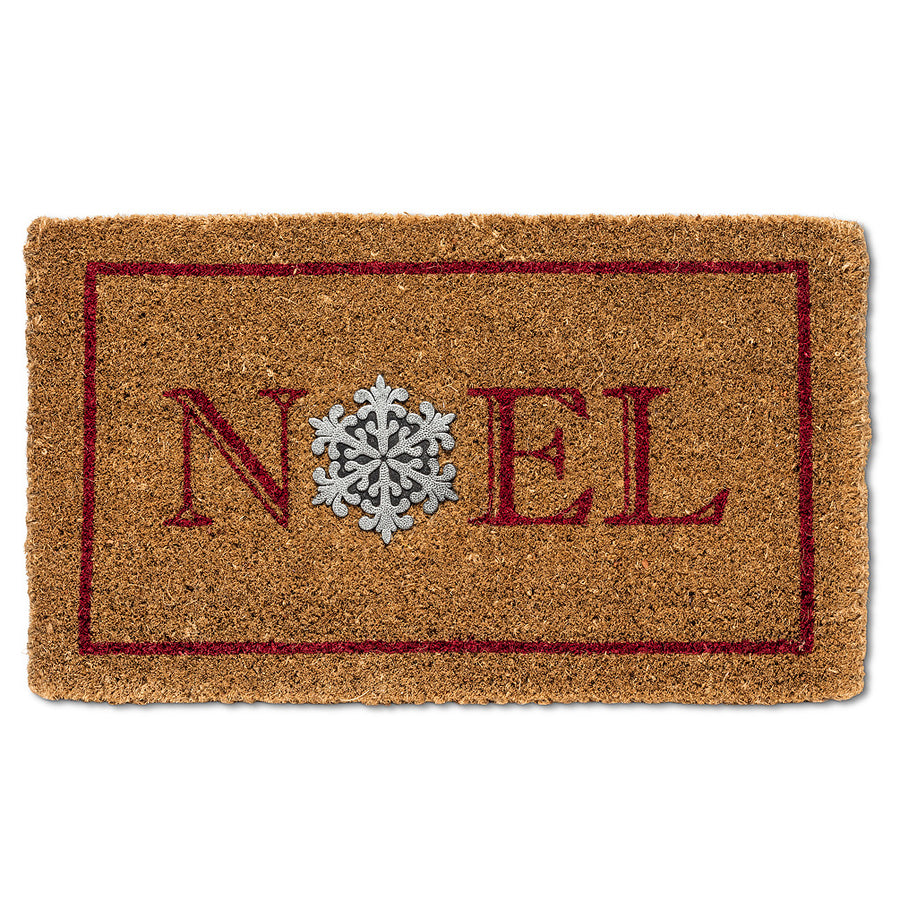 Noel with Snowflake Doormat